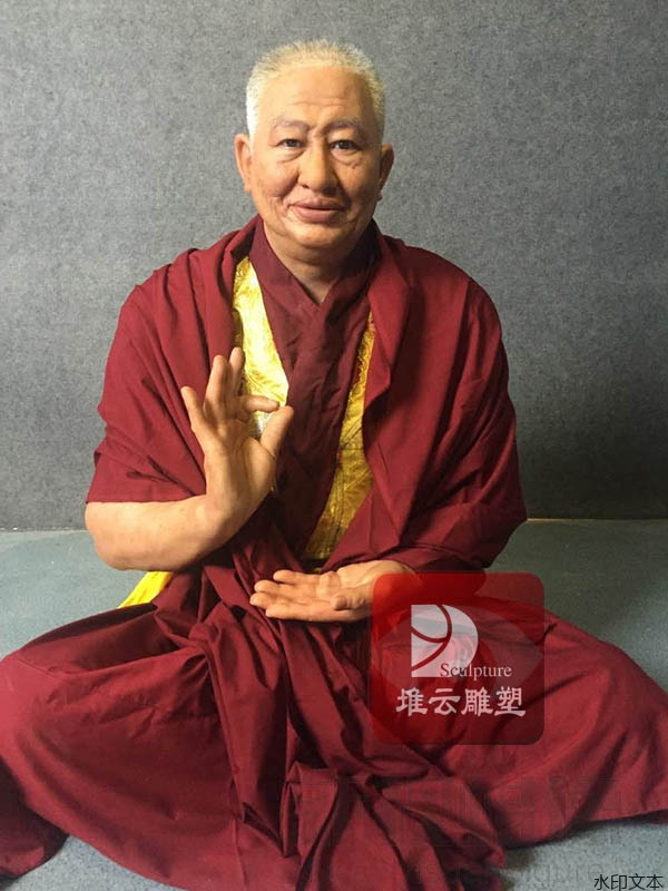 西藏仁波切蜡像