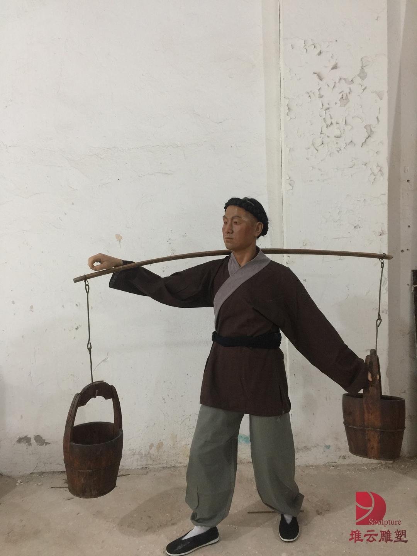 古代民俗人物蜡像